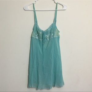 Tiffany Blue Victoria's Secret Babydoll Lingerie